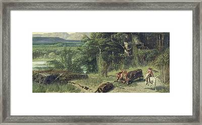 The Stone Age Framed Print by Octave Penguilly l'Haridon
