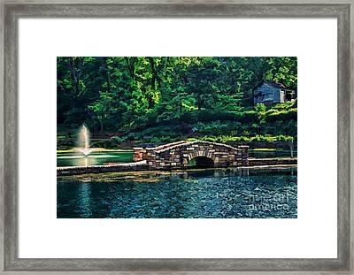 The Stone Bridge Framed Print