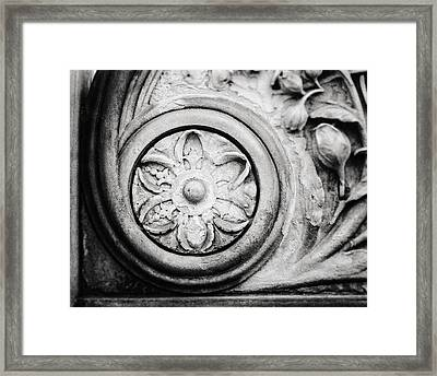 The Stone Circle In Black And White Framed Print