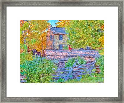 The Stone House At The Oliver Miller Homestead / Late Afternoon  Framed Print