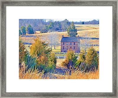 The Stone House / Manassas National Battlefield Park In Winter Framed Print