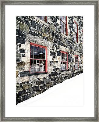 The Stone Mill At The Enfield Shaker Museum Framed Print by Edward Fielding