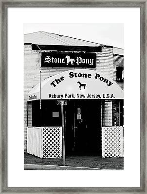 The Stone Pony Asbury Park Nj Framed Print by Terry DeLuco
