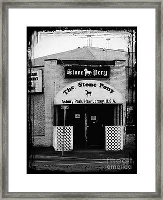 The Stone Pony Framed Print by Colleen Kammerer