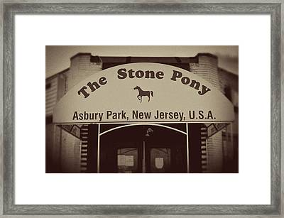 The Stone Pony Vintage Asbury Park New Jersey Framed Print