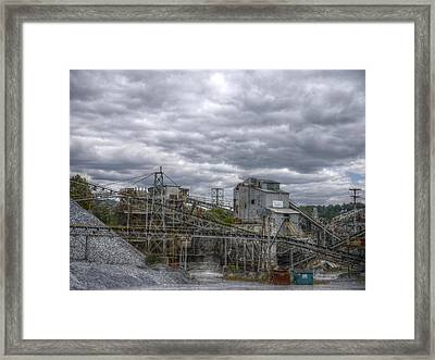 The Stone Quarry Framed Print