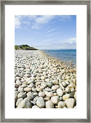The Stones On Beach Framed Print by Boon Mee