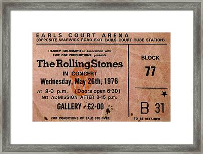 The Stones Play London Framed Print