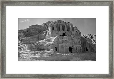 The Stones Still Speak - Bw Framed Print