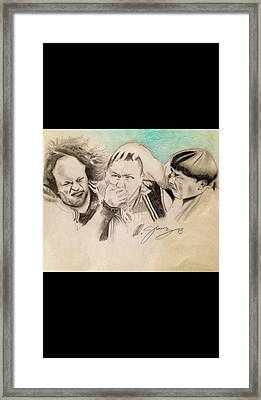 The Stooge Legends Framed Print by Mario Jimenez