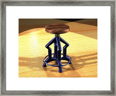 Framed Print featuring the digital art The Stool Twin by Giuseppe Epifani