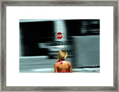 The Stop Walker  Framed Print by Steven Digman