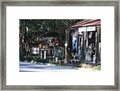 The Store At Bluffton Framed Print