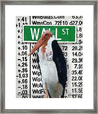 The Storkbroker... Framed Print