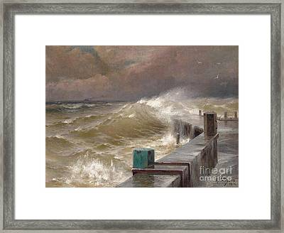 The Storm Framed Print by Celestial Images