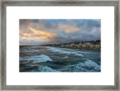 The Storm Clouds Roll In Framed Print by Ann Patterson