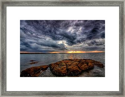 The Storm Cometh Framed Print