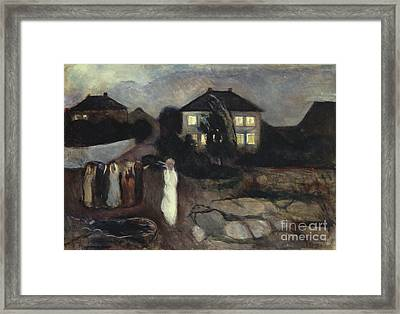 The Storm Framed Print by Edvard Munch
