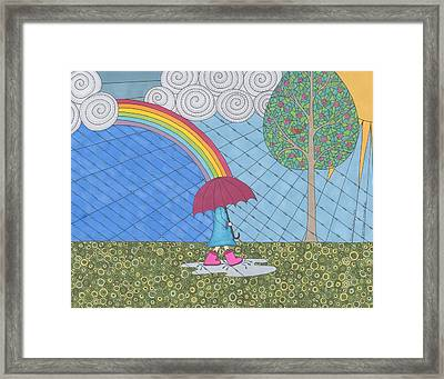 The Storm Is Behind Me Framed Print