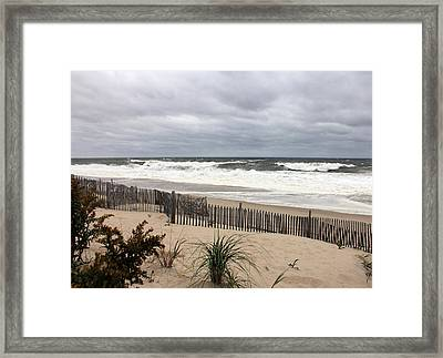 The Storm Nears Framed Print by Mary Haber