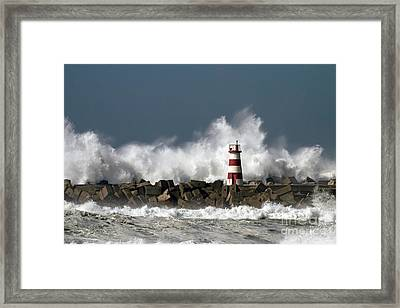 The Storm Wave Framed Print by Boon Mee