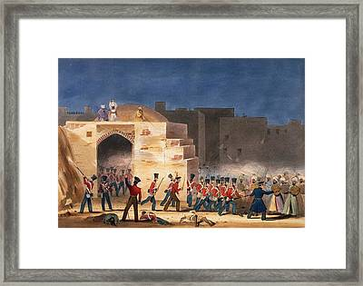 The Storming Of Ghuznee, Inside View Framed Print by English School