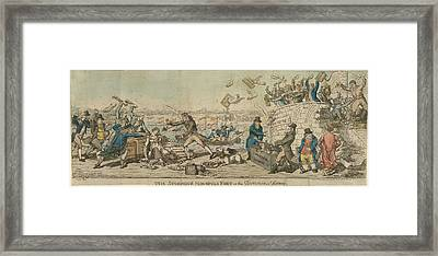 The Storming Of Monopoly Fort Framed Print by British Library