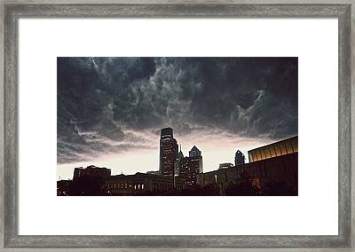 The Stormy City Framed Print by Kenny  Noddin
