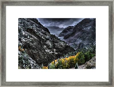 The Stormy Road To Ouray Framed Print