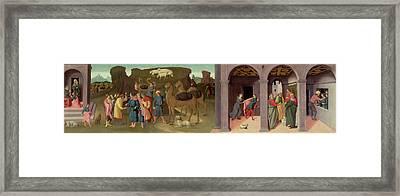 The Story Of Joseph, I Framed Print by Bartolomeo di Giovanni