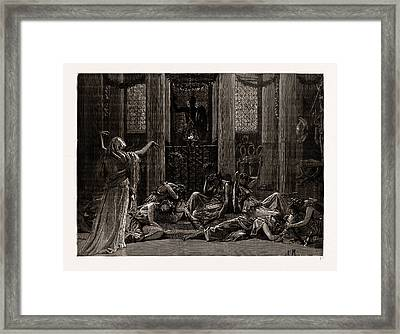 The Story Of Orestes, At The Princes Hall Framed Print