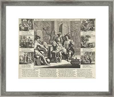 The Story Of The Prodigal Son, Cornelis Van Dalen Framed Print by Cornelis Van Dalen (i) And Rombout Van Den Hoeye