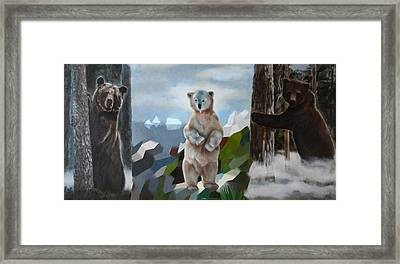 The Story Of The White Bear Framed Print by Jukka Nopsanen