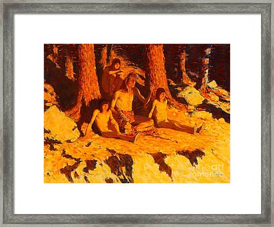 The Story Of Where The Sun Goes Framed Print by Pg Reproductions