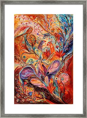 The Story Of Wild Iris Framed Print by Elena Kotliarker