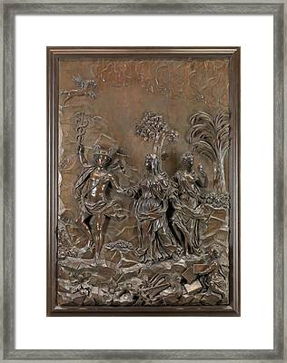 The Stowe Reliefs Mercury Conducting Tragic And Comic Framed Print by Litz Collection