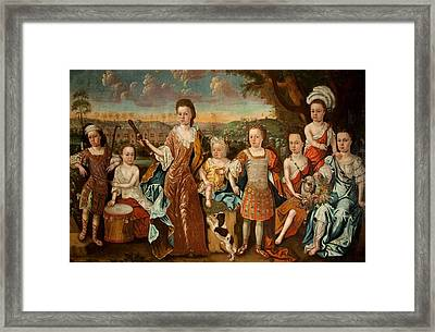 The Strachey Family, C.1710 Framed Print by English School