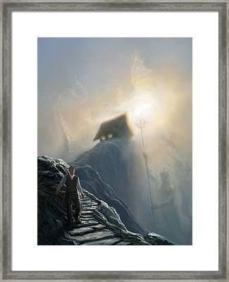 The Strange High House In The Mist Framed Print
