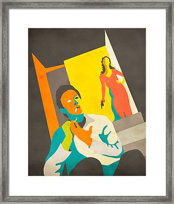 The Stranger On The Third Floor Framed Print by Jazzberry Blue
