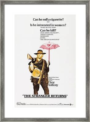 The Stranger Returns, Aka A Man, A Framed Print by Everett