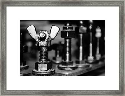 The Strategic Wing Nut Framed Print