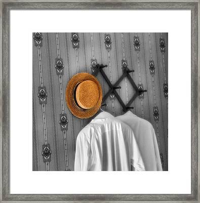 The Straw Boater Vintage Hat Framed Print