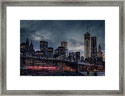 Framed Print featuring the photograph The Streaker In Nyc by Linda Karlin