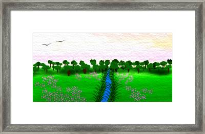 The Stream - A Digital Painting Framed Print