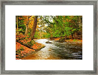 Framed Print featuring the photograph The Stream by Bill Howard
