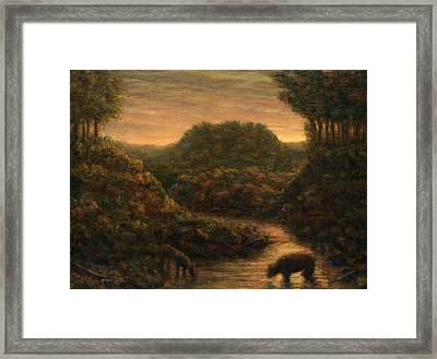 The Stream Framed Print by James W Johnson