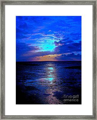 The Stream Of Night Framed Print by Q's House of Art ArtandFinePhotography