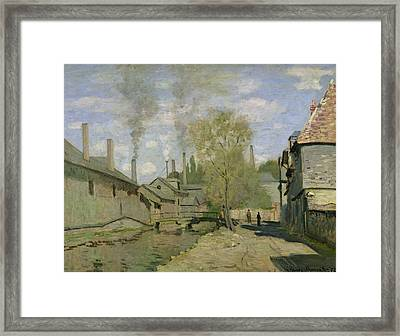 The Stream Of Robec At Rouen, 1872 Framed Print