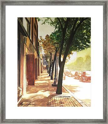 The Street Framed Print by Alyssa Kerr