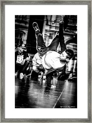 Framed Print featuring the photograph The Street Dancer by Stwayne Keubrick